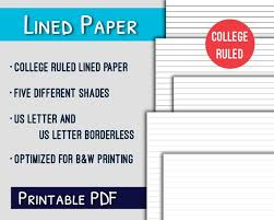 Printable College Ruled Paper Magnificent Lined Paper PrintableCollege Ruled Letter Lined Paper Etsy