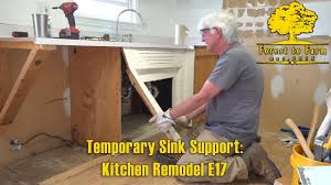 Temporary Sink Support Kitchen Remodel E17 Youtube