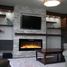 electric fireplace heater best wall mount inch pebble recessed