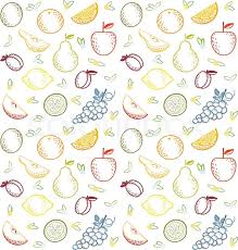 Fruit Pattern Stunning Fruit Pattern Stock Vector Colourbox