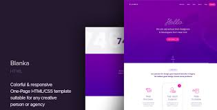 Portfolio Website Templates Best Blanka One Page HTML Template By CocoBasic ThemeForest