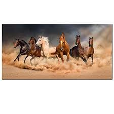 running horse canvas wall art