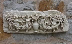 garden wall plaques cherub angel