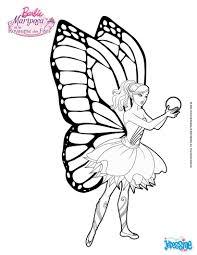 Coloriage Barbie Mariposa Et La Fleur De Flottauvent Cameo