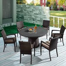 china outdoor synthetic rattan garden furniture round table with stackable chair using hotel or leisure place yta362 1 ytd121 china patio chair table