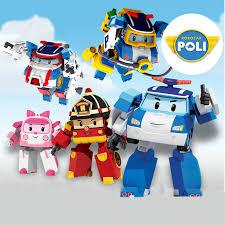2019 <b>New 4pcs</b>/Set Robocar Poli <b>Korea</b> kids Toys super wings ...