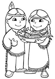 Native American Coloring Page Native Americans Coloring Pages
