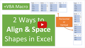 2 Ways To Align Space Shapes Charts Or Slicers In Excel