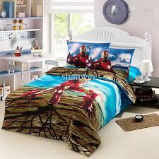 cool iron man ironman boys girl cartoon kid duvet cover sheet set cotton single bed twin children bedding comforter set bedlinen gifts duvet cover