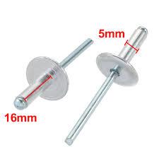 <b>Uxcell</b> 20Pcs 5x16mm <b>Rivets Aluminum</b> Open End Large Flange ...
