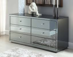 Image of: Amazing Mirrored Chest Of Drawers