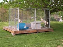 homemade dog kennels 2. Homemade Outdoor Dog Kennel Designs Kennels 2
