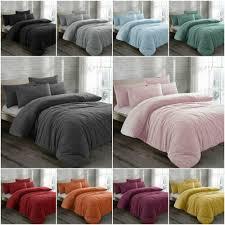 teddy bear fleece bedding duvet cover