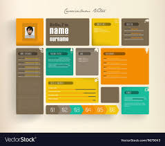 Creative Resume Template With Tiles