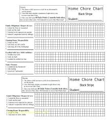 Template For Chore Charts Advmobile Info