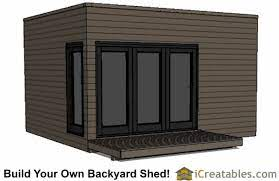 12x16 studio shed plans flat roof shed