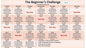 30 day workout plan at home best of the beginner s challenge underlined le above