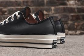 converse all star leather. step your game up with the converse chuck taylor all star ox 1970 black leather o