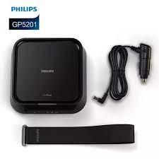 Máy khử mùi, lọc không khí trên xe ô tô, xe hơi nhãn hiệu Philips GP5201  3.5W 12V ( Màu đen)