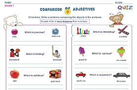 Adjective Worksheet First Grade. First Grade Worksheets For April ...