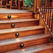 outdoor stairs lighting. Discreet Domed Lights On The Risers Of This Outdoor Deck Illuminate Steps Below. | Stairs Lighting