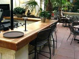 outdoor countertop options concrete i like the accent lines cut in the top guessing it was outdoor countertop options