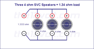 subwoofer wiring diagram 3 wiring diagram library subwoofer wiring diagrams for three 4 ohm single voice coil speakers 12 inch subwoofer wire