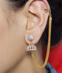 Ear Cuffs Indian Design Much More Indian Bollywood Style Gold Plated Jhumki Design