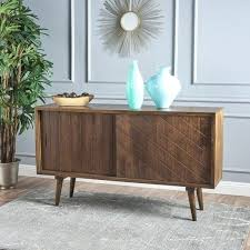 sliding door buffet diy solid mango wood sideboard cabinet with by knight home