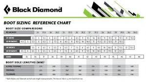 Black Diamond Ski Boots Size Chart 14 Qualified Ski Boot Sole Length Chart