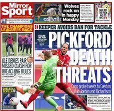 تهديدات بيكفورد وكوارث الفار في صدر صحف إنجلترا