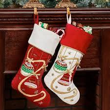 christmas stocking set. Fine Christmas Elegant Ornament Christmas Stockings Off White Set Of Two To Stocking