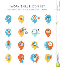 work skills icon set stock illustration image  work skills icon set