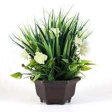 Office Flower Binnny Flower Artificial Potted Plant With Gardenia Flowers