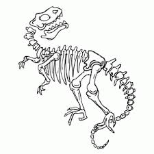 Leuk Voor Kids Fossielen En Dinoskeletten Kleurplaten