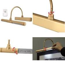 Art lighting wireless Wall Sconce Details About Wireless Cordless Led Picture Frame Battery Operated Light Art Lighting Gold Ebay Wireless Cordless Led Picture Frame Battery Operated Light Art