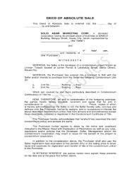 Deed Of Absolute Sale - Linmarr Towers Condominium Complex Fill ...