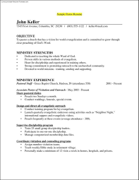Ministry Resume Templates Template Design
