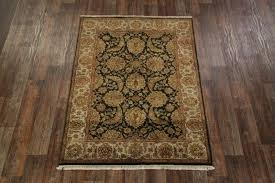 5x7 black rug and white striped oriental area