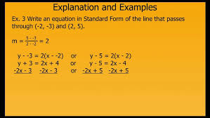 writing linear equations in standard form you of equation calculator maxresde standard form of linear equation