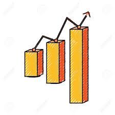 Graphic Design Stats Graphic Stats Report Icon Vector Illustration Graphic Design