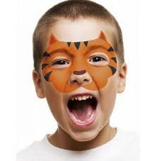 professional face painting made easy just place the cardboard stencil over your child s face draw around it using the face paint crayons and fill in the