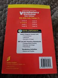 Vocab Answers Level D Vocabulary Workshop Enriched Edition Image Of Vocabulary