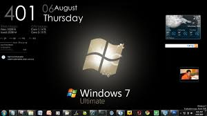 desktop clock wallpaper for windows 7