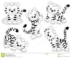 baby tiger clipart black and white. Perfect Tiger Vector Black And White Tigers Tiger Cub Baby Tiger Clipart Vector  Illustration Throughout Baby Tiger Clipart Black And White N