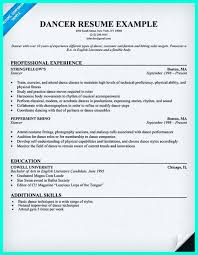 Professional Dance Resume Free Resume Example And Writing Download
