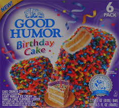 On Second Scoop Ice Cream Reviews Good Humor Birthday Cake Bars