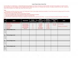 professional action plan template example detailed our author it