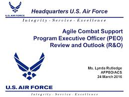 Agile Combat Support Program Executive Officer Peo Review