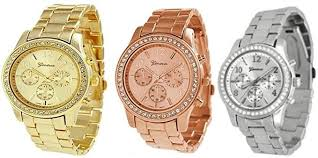 NYKKOLA Unisex Metal Watches, 3PCs Silver Gold ... - Amazon.com